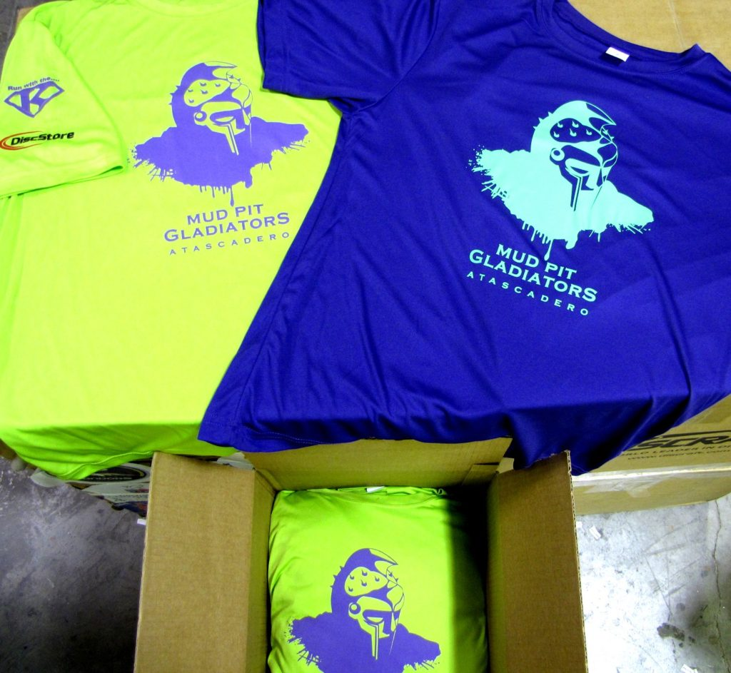 Screen Printed Moisture Wicking Shirts